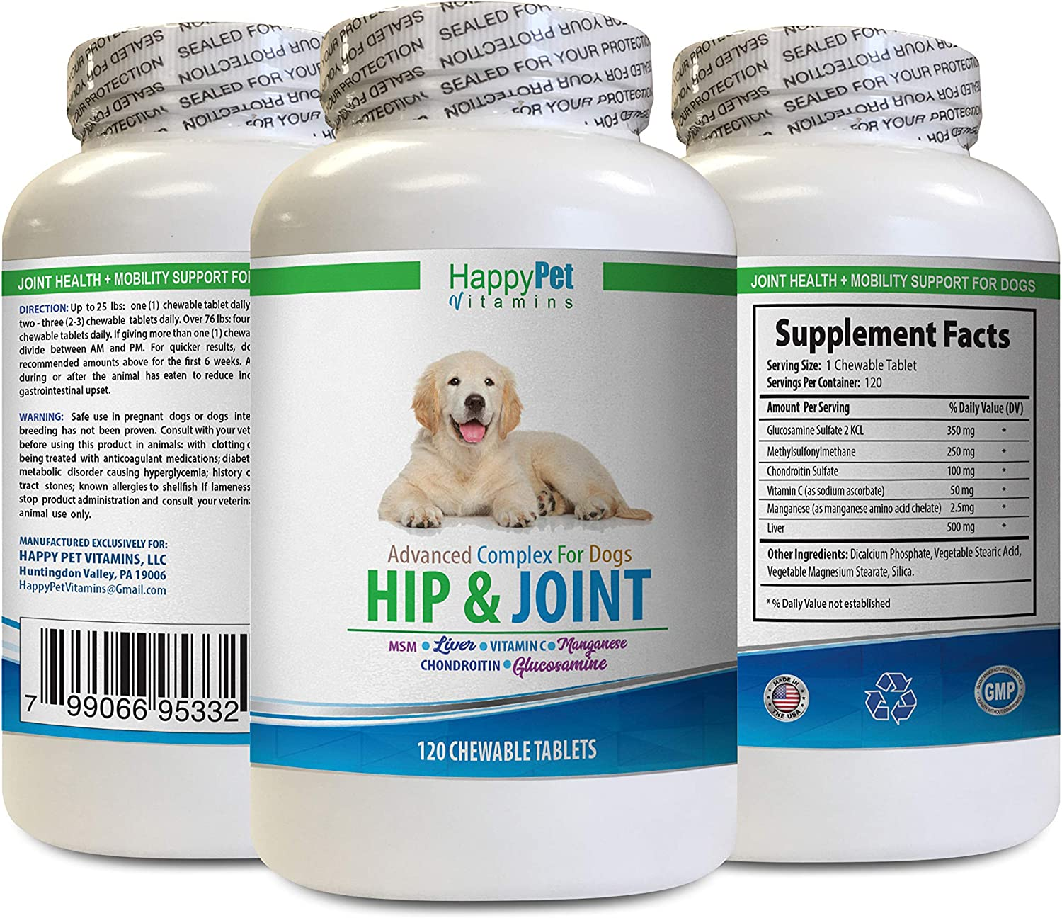 HAPPY PET VITAMINS New life LLC Dog Joint Health and - Gifts Repair D Cartilage