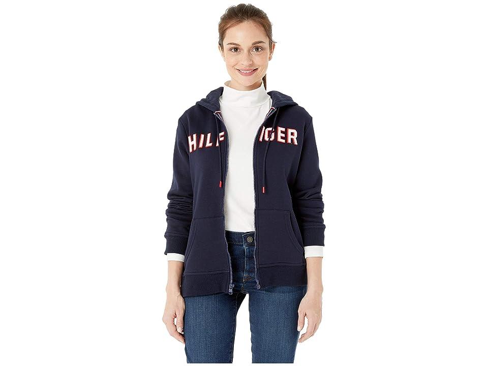 Tommy Hilfiger Adaptive Hoodie Sweatshirt with Magnetic Zipper Closure (Masters Navy) Women
