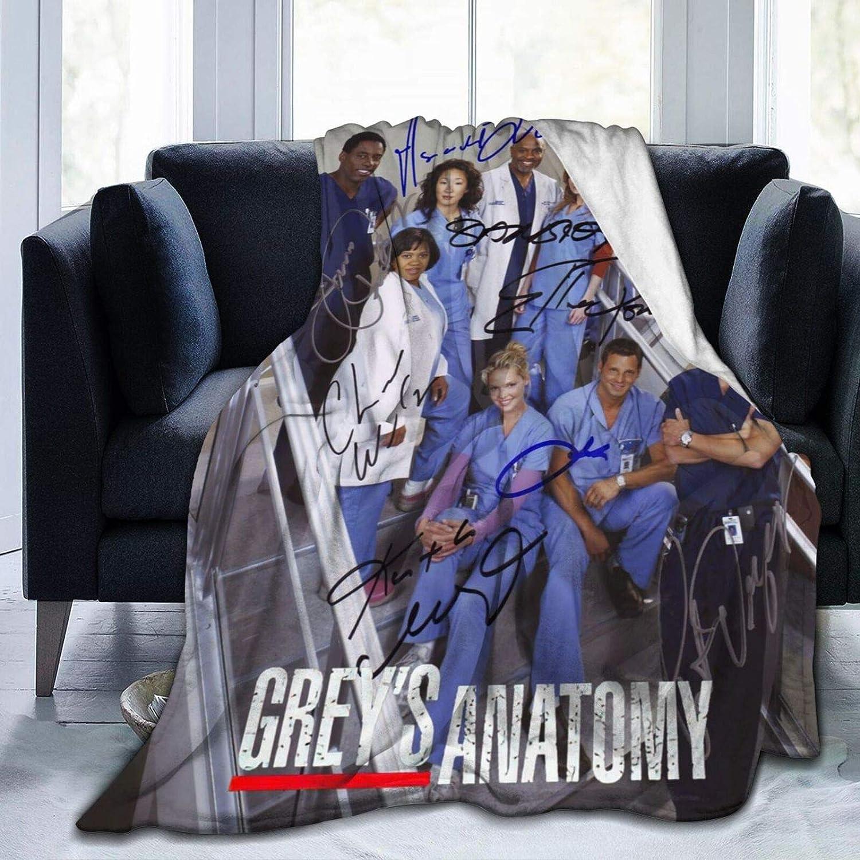 Greys Ultra Anatomy Raleigh Mall Soft Flannel Plush Blanket Ranking TOP3 Lightweight Cozy