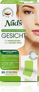 """Nad""""s Kaltwachsstreifen - Haarentfernung für das Gesicht, alle Hauttypen, 20 Wachsstreifen  4 Pflegetücher, Frauen"""