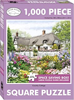 Puzzles 1000 Piece Jigsaw Puzzles for Adults Kids Classic Family Puzzle Indoor DIY Toys Birthday Gift - Country Cottage