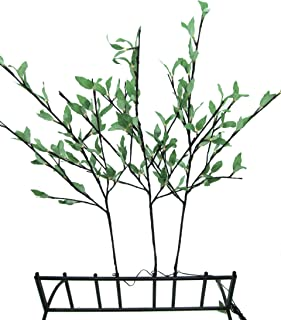 Hi-Line Gift Ltd 37383-96 96 Liter Floral Lights Willow Branch with Leaves AC Min and Up, 2-Peice