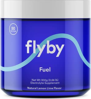 Flyby Keto Electrolyte Powder – Rapid Rehydration, Recovery, Energy Boost & Leg Cramps – 72 Trace Minerals, Salts, Magnesium, Potassium, Sodium & Calcium – No Sugar – Lemon Lime Flavor – 50 Servings