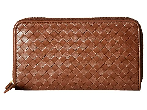 Bottega Veneta Intrecciato Velvet Calf Zip Around Wallet