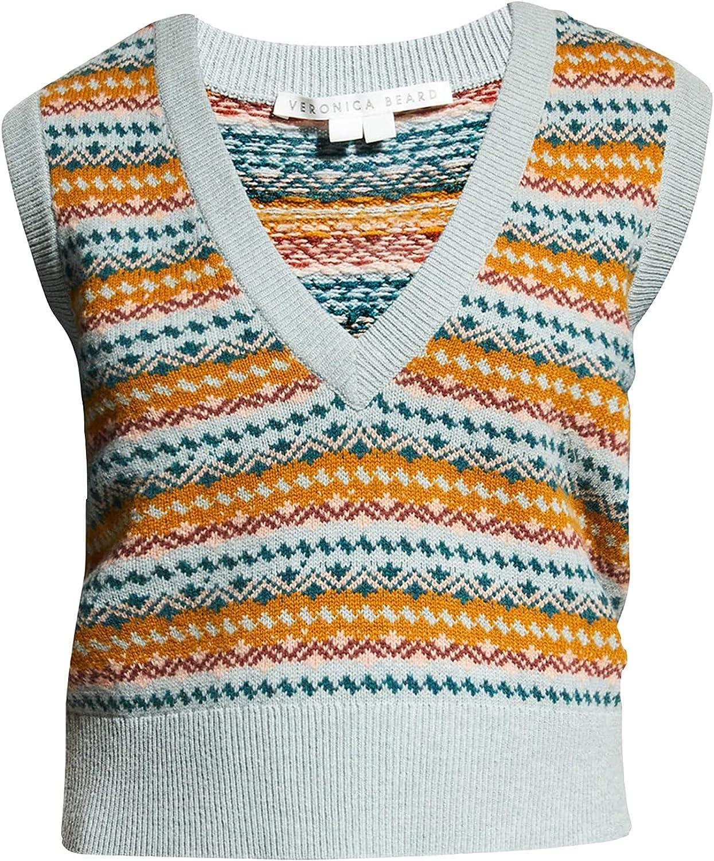 Veronica Beard Women's Helenka Sweater Vest Multi Blue