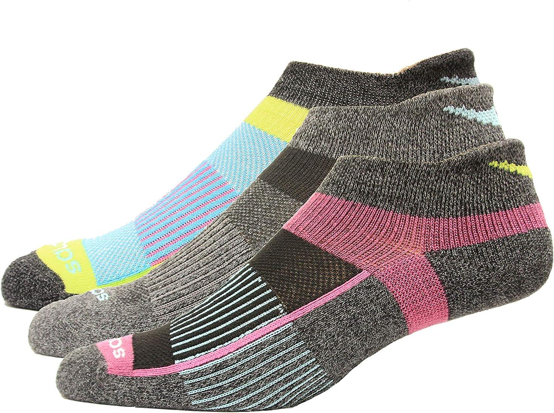 Saucony Inferno No Show Tab Athletic Socks 3 Pair
