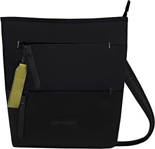 Sherpani Sadie Crossbody, and Shoulder bag for Women, made from Recycled Nylon fabric with RFID protection (Raven)