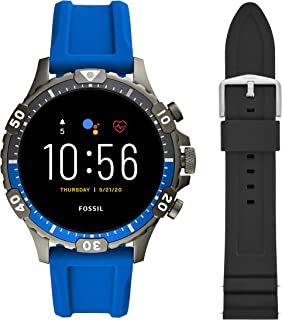 Touchscreen Smartwatch & 22mm Silicone Watch Band, Black