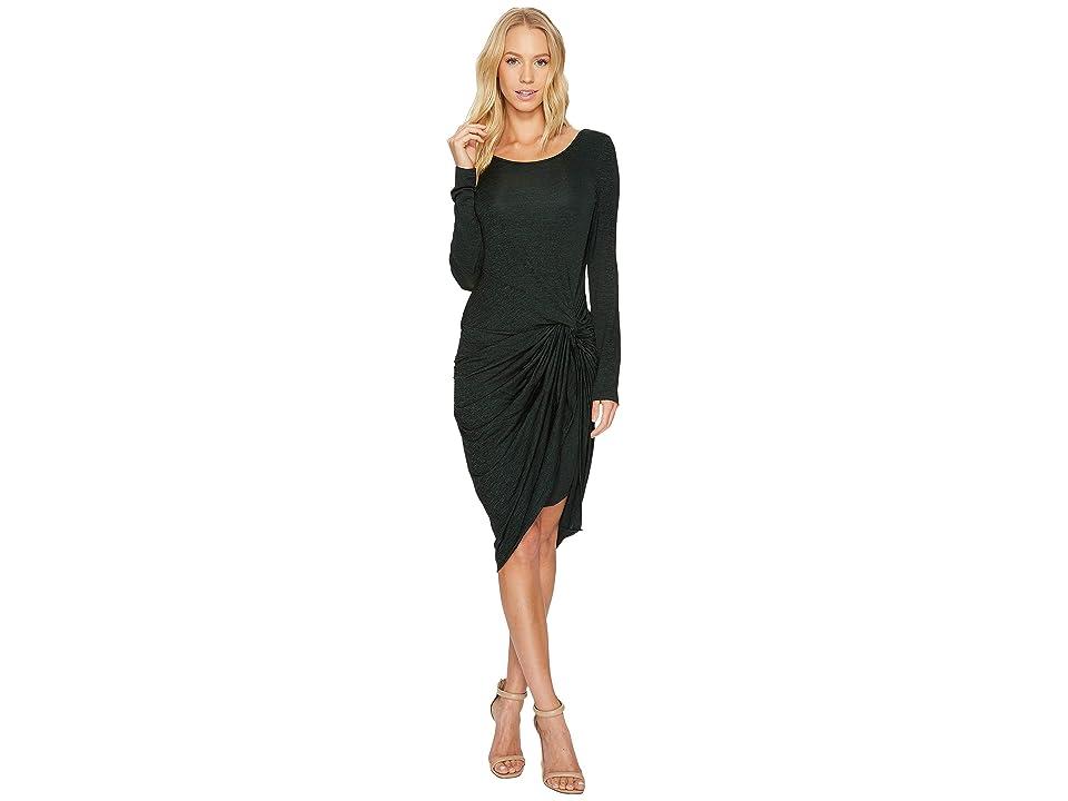 Adrianna Papell Jaspee Knit Scoop Neck Knit Dress (Hunter/Black) Women