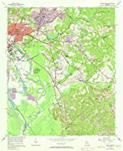 YellowMaps Macon East GA topo map, 1:24000 Scale, 7.5 X 7.5 Minute, Historical, 1956, Updated 1973, 26.8 x 22 in