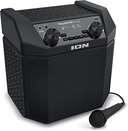 ION Audio Tailgater Plus - 50W Portable Outdoor Wireless Bluetooth Speaker with 50 Hour Battery, Microphone, Radio an...