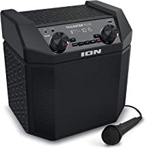 ION Audio Tailgater Plus | 50W Portable Speaker, Battery Powered with Bluetooth, Microphone & Cable, AM/FM Radio, Built-in Carry Handle and USB Charging For Smartphones & Tablets