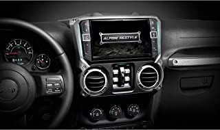 "Alpine X409-WRA-JK Custom-fit Digital Multimedia Receiver with 9"" Screen for Select 2011-18 Jeep Wrangler JK Models (Does ..."
