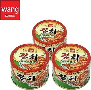 Korean Canned Kimchi, Original Authentic Tasteful Can Napa Cabbage Kim Chi Condiment, Vegan Gluten Free [No Preservatives] - 5.64 oz (3 Cans)