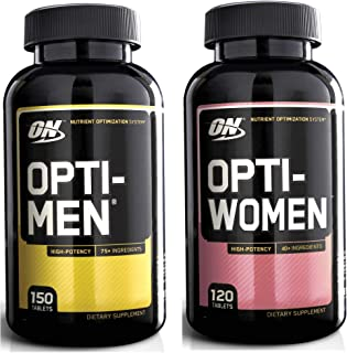 Optimum Nutrition Opti-Men 150 Multivitamin Tablets + Opti-Women 120 Capsules