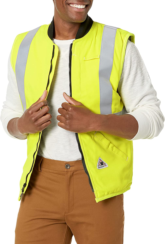 Bulwark Men's Hi-vis Insulated Vest with Reflective Trim-Big/Tall