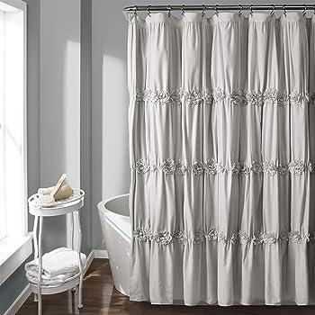 Amazon Com Avershine Jacquard Black Shower Curtain Waterproof 70