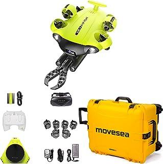 Drone FISH V6S 100 m kabel 64 GB afstandsbediening 2 opladers VR bril HDMI robot arm bescherming koffer geel met wielen QY...