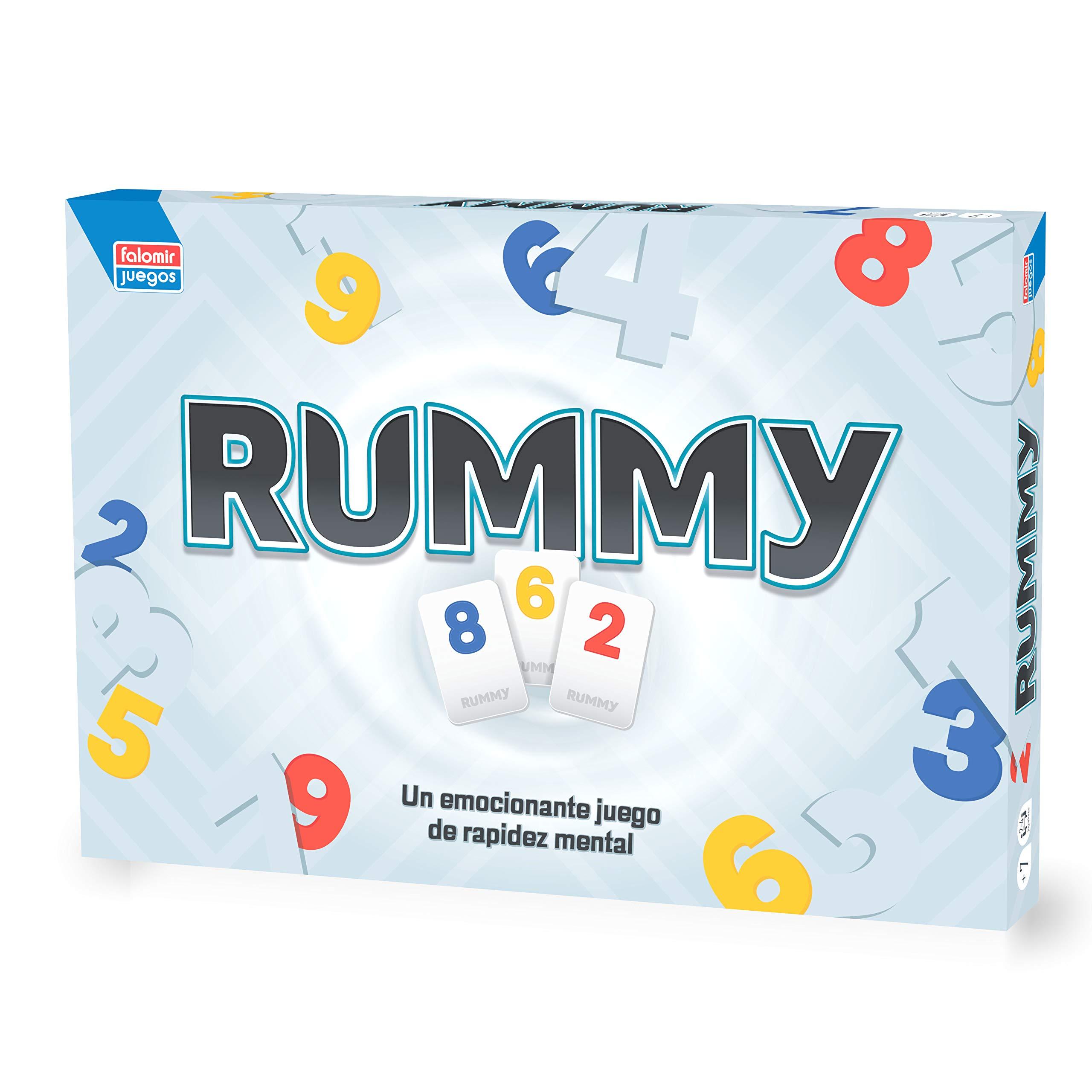 Falomir Rummy Junior Juego de Mesa, Multicolor, Talla Única (646456): Amazon.es: Juguetes y juegos