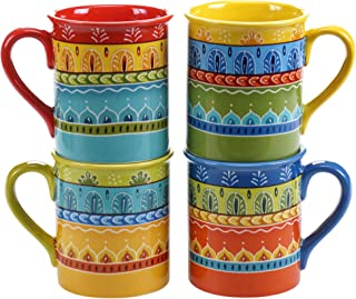 Certified International Valencia Mugs (Set of 4), 16 oz, Multicolor