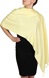 08238e73e York Shawls Handcrafted Pashmina Wrap Shawl - Tassel Finishing - Free  Hanger (25+ Colours