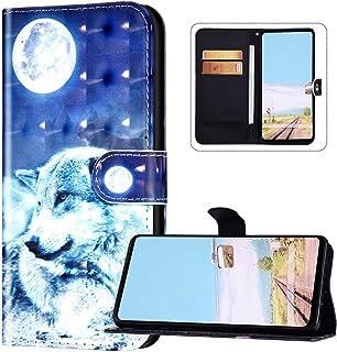 Plånbok telefonfodral kompatibel med Huawei P40 Lite, Huawei Nova 6 SE PU-läder magnetiskt stängningsfodral sött mönster f...