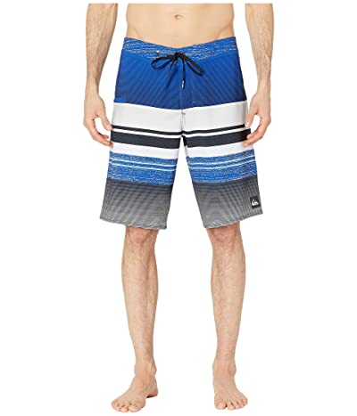 Quiksilver 21 Everyday Stripe Vee 2.0 Boardshorts Swim Trunks (Electric Royal) Men