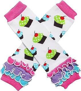 Baby Toddler Little Girl Ruffle Bottom Polka Dot & Stripe Leg Warmers