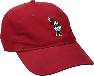 Disney Womens Minnie Mouse Washed Baseball Cap, Adjustable with Slide Baseball Cap