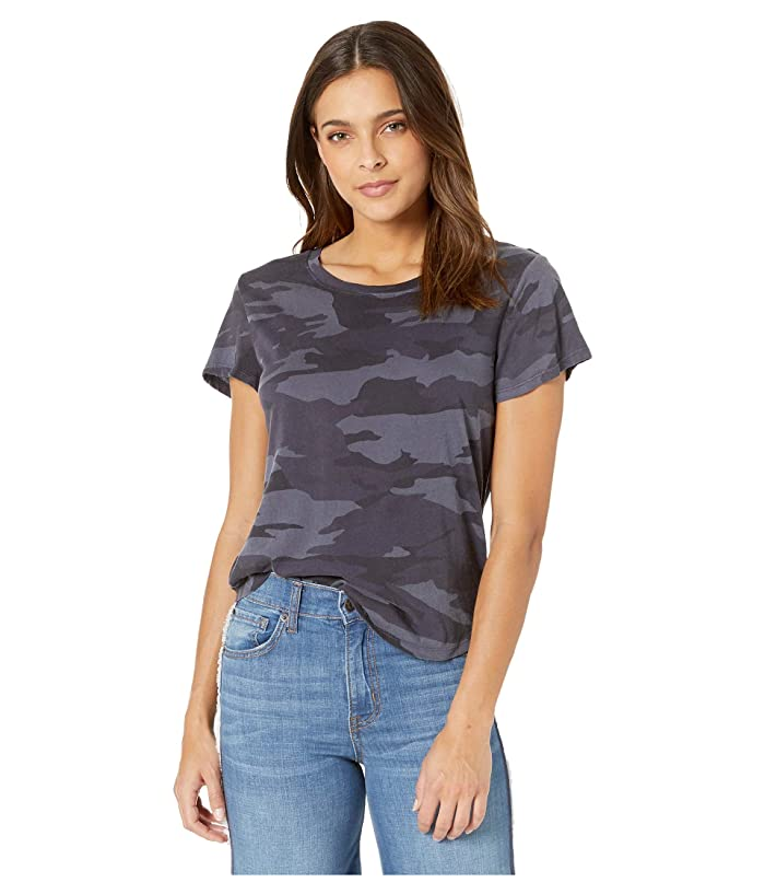 Splendid  Abbie Camo Crew Tee (Vintage Ink) Womens T Shirt