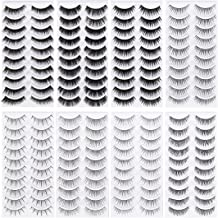 Frcolor 80 Pairs Natural Eyelashes 10-Style Thick Long Eye Lashes for Women Lady Teenager Girls