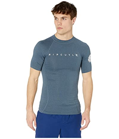 Rip Curl Dawn Patrol UV Tee Short Sleeve (Navy Marle) Men