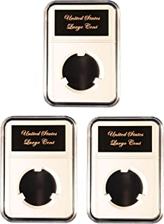 Little Bear Elite Certified-Style Coin Holder for US Braided Hair Large Cents 1839-1857 Three Pak