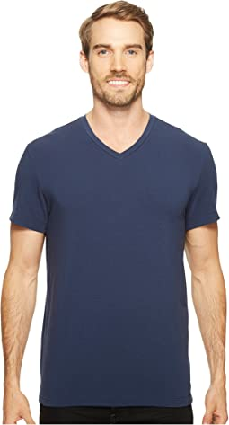 Cotton Spandex V-Neck Tee