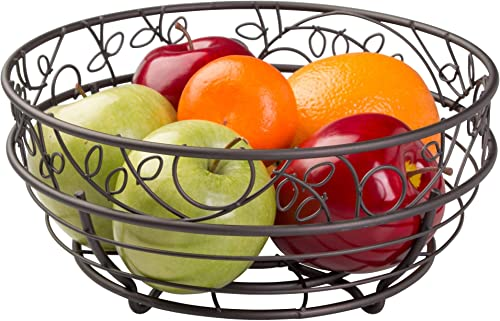 iDesign Twigz Wire Fruit Bowl Centerpiece for Kitchen and Dining Room Countertops, Tables, Buffets, Refrigerators, Br...