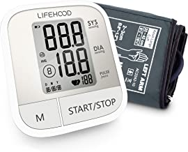 Blood Pressure Monitor – Clinically Accurate & Fast Reading, 60 Reading Memory Automatic Upper Arm Digital BP Monitor with Large Display & Buttons, Wide Range Cuff, One Touch Operation for Home Use