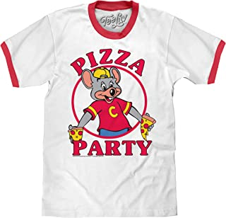 Tee Luv Chuck E Cheese's T-Shirt - Pizza Party Graphic Ringer Tee Shirt