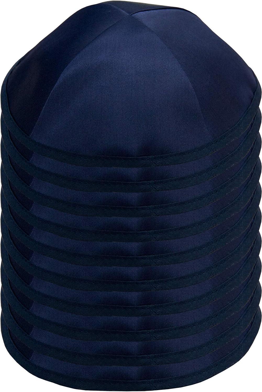 Yamaka Hat from Israel White Hq 19//20cm Satin Kippah for Men /& Boys Kippot Bulk HolYudaica Pack of 10-Pcs