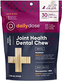 dailydose Dual Benefit - Dental + Joint Health Chews for Dogs