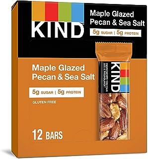 KIND Bars, Maple Glazed Pecan & Sea Salt, Gluten Free, Low Sugar, 1.4oz, 12 Count