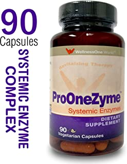Pro-OneZyme Best Proteolytic Systemic Enzymes Supplement with Nattokinase Plus Probiotics - Anti-inflammatory, Immune Support, Joint Support, Scar Tissue & Fibrin Dissolving - 90 Capsules