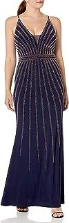 Xscape Women's V-Neck Beaded Dress