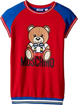 Moschino Kids - Short Sleeve Color Block Graphic Dress (Big Kids)