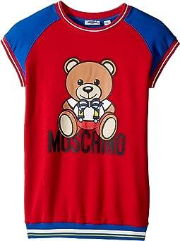 Moschino Kids - Short Sleeve Color Block Graphic Dress (Big Kids)