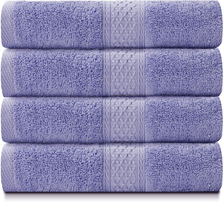 BOSOWOS Bath Detroit Mall Towels 100% Cotton Industry No. 1 Bathroom 4 for Piece Set