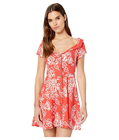 Free People A Thing Called Love Mini Dress (Red Combo) Women