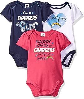 NFL Children Girl's Daddy Loves 3 Pack Bodysuit