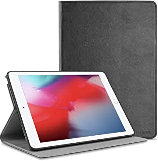 Polaland iPad 9.7 Inch Leather Case(2018/2017), Slim Lightweight Folding Stand Folio Smart Cover with Soft TPU Interior Shell and Auto Sleep/Wake for iPad 9.7 6th/5th Generation - Black