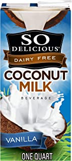 So Delicious Dairy Free Coconut Milk Beverage Vanilla 32 Ounce, Dairy Soy and Almond Alternative Vanilla Milk Drink, Shelf-Stable Aseptic Packaging