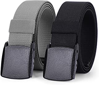 Elastic Stretch Belt for Men Breathable Sports Outdoor Belt,JasGood 3.8cm Plastic Buckle with Standby Nickle Free Plastic ...